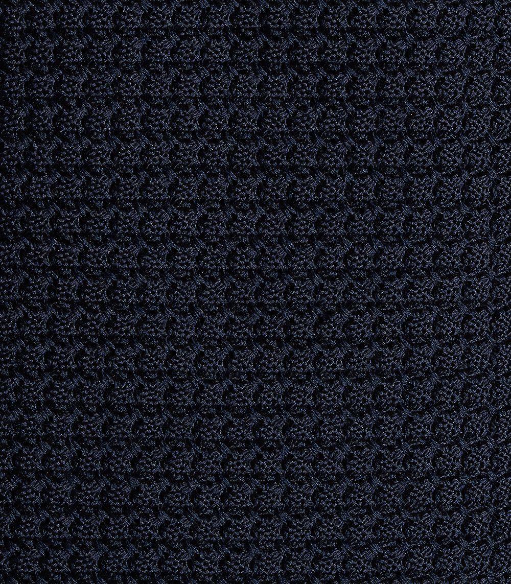Huntsman Navy Grenadine Silk Tie