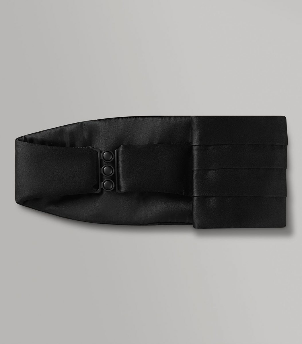 Huntsman Black Satin Cummerbund