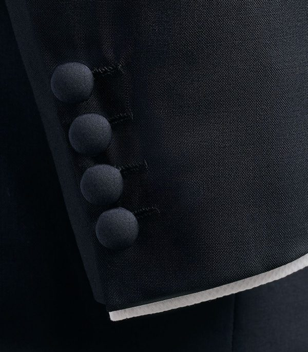 Huntsman Midnight Blue Merino Wool Evening Suit