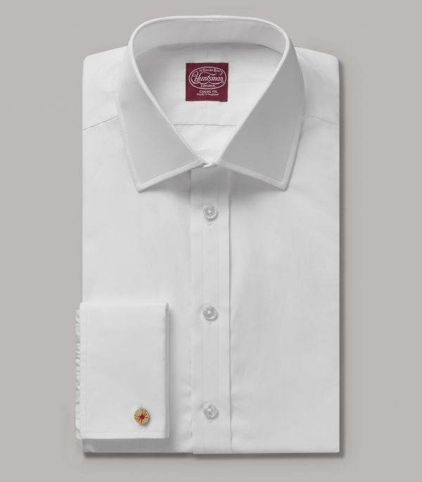 White Portland Classic Fit Double Cuff Shirt - Egyptian Cotton