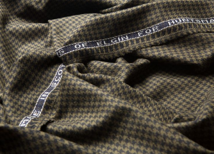Huntsman Bespoke Cloth Selection - Gregory Peck Houndstooth