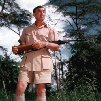 1953 - Huntsman dresses Clark Gable for his role in Mogambo