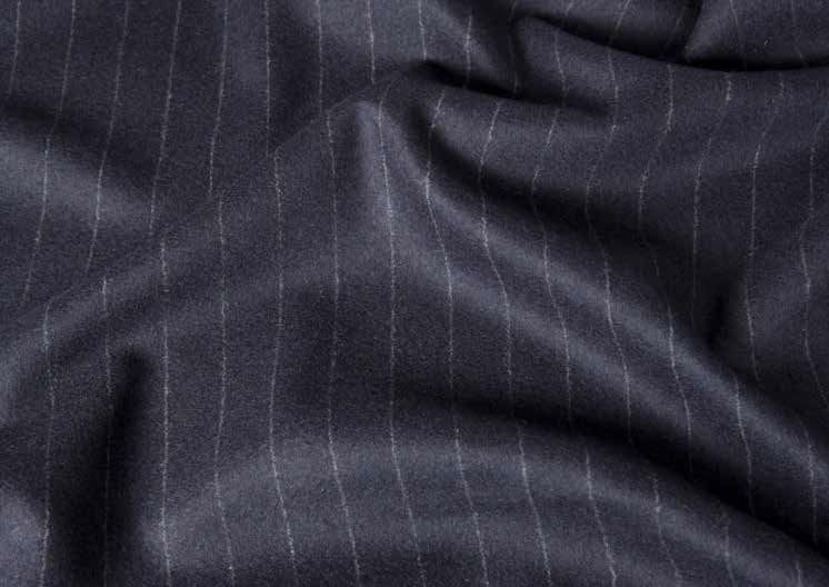 Classic Suitings - Grey Stripe Flannel Zoomed View