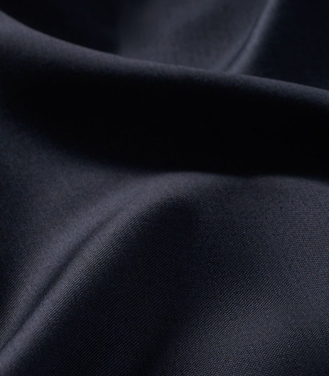 Huntsman Navy Sharkskin Single Breasted Suit