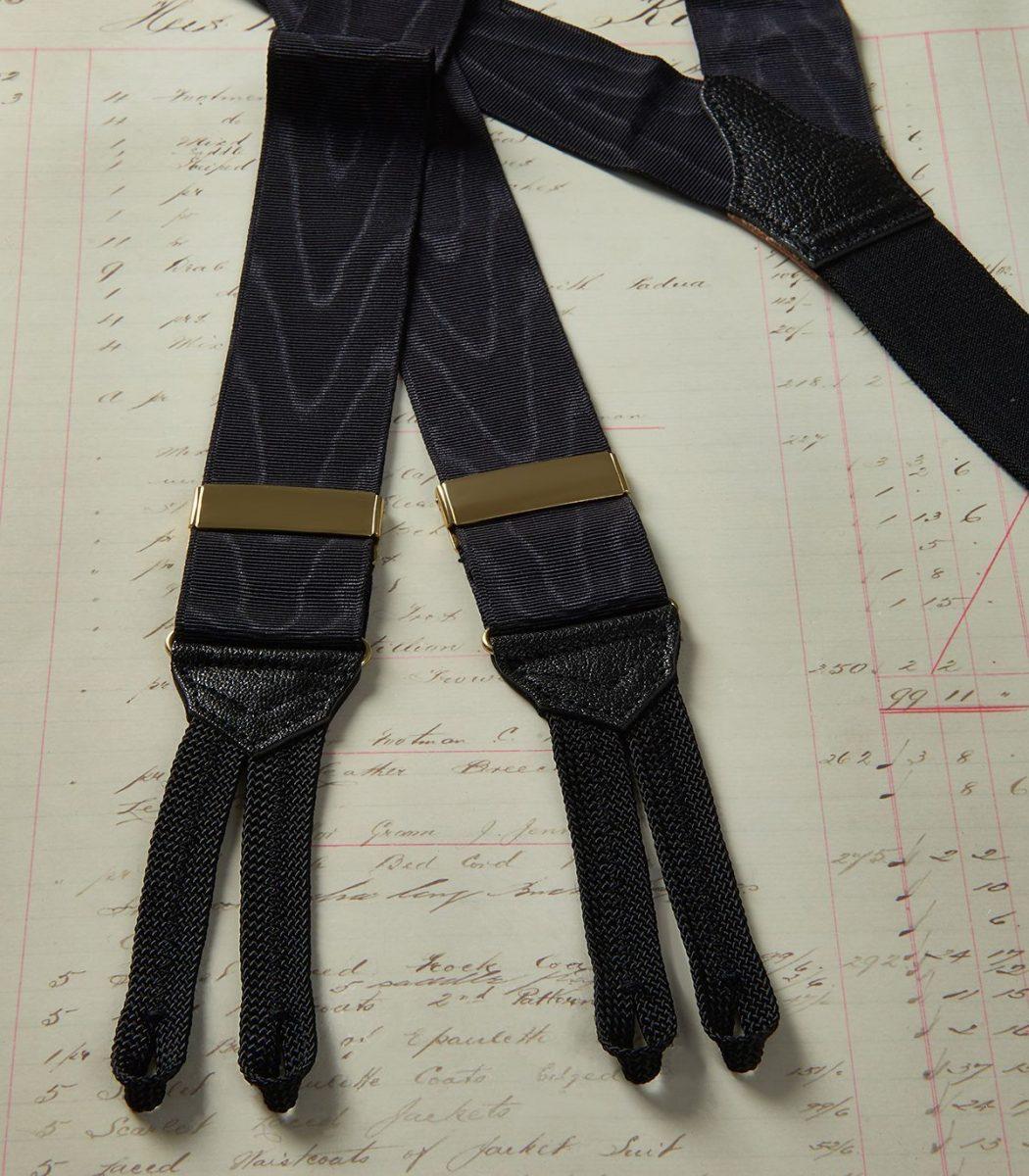 Huntsman Black Moire Braces