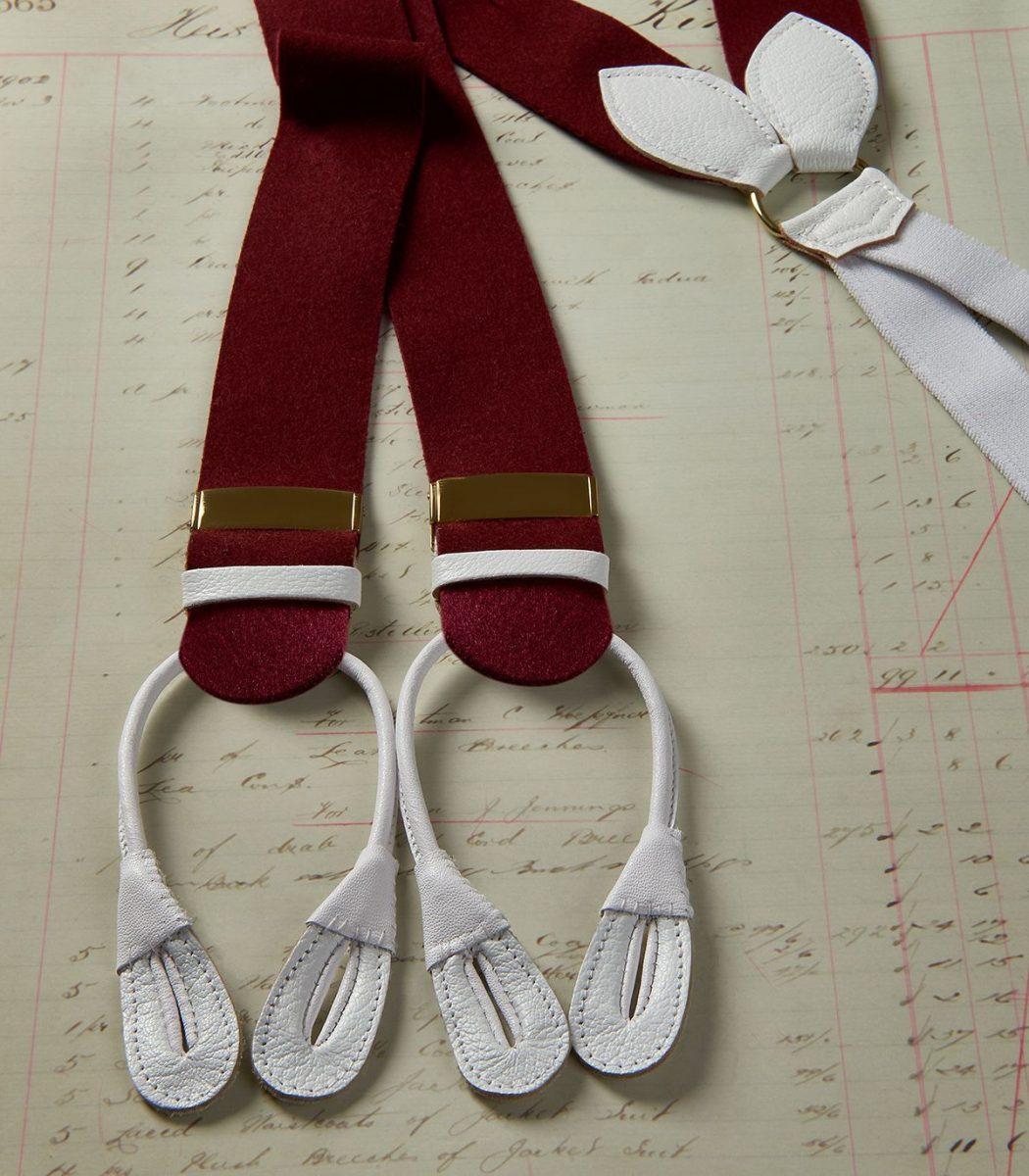 Huntsman Claret Boxcloth Braces