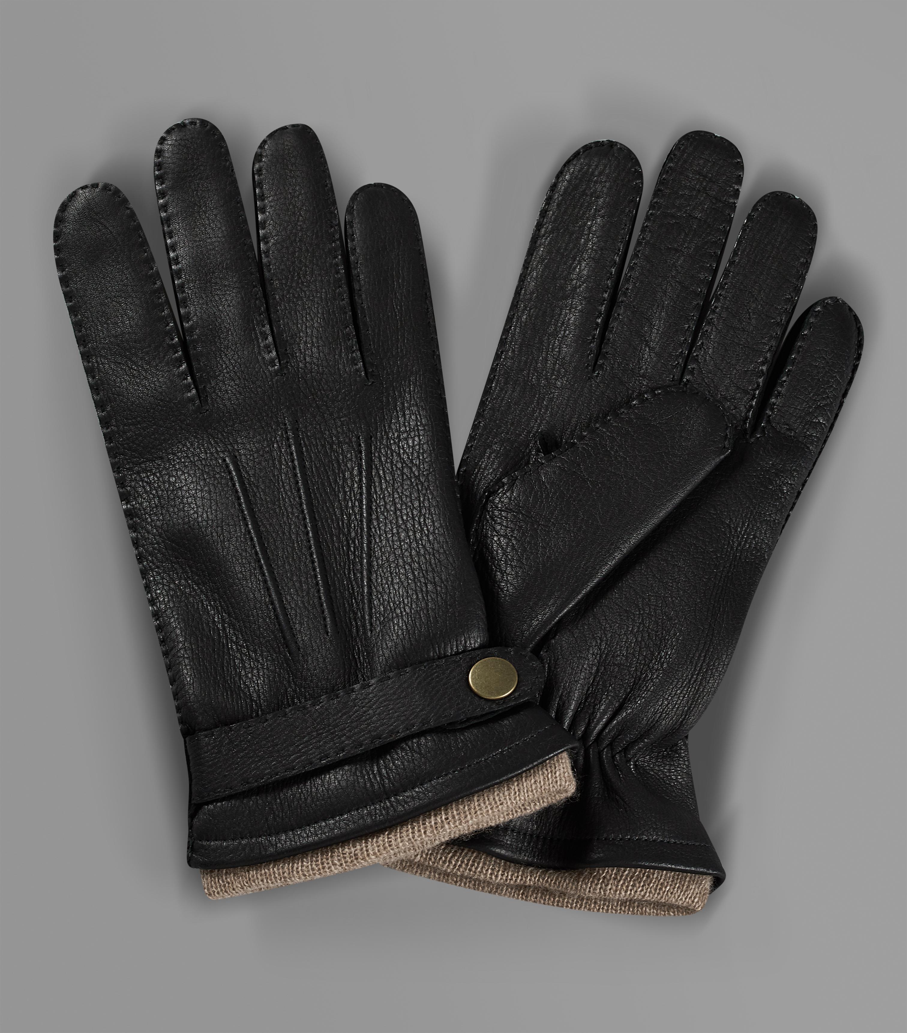Huntsman Black Deer skin gloves