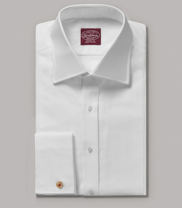 White Poplin Egyptian Cotton Classic Double Cuff Shirt