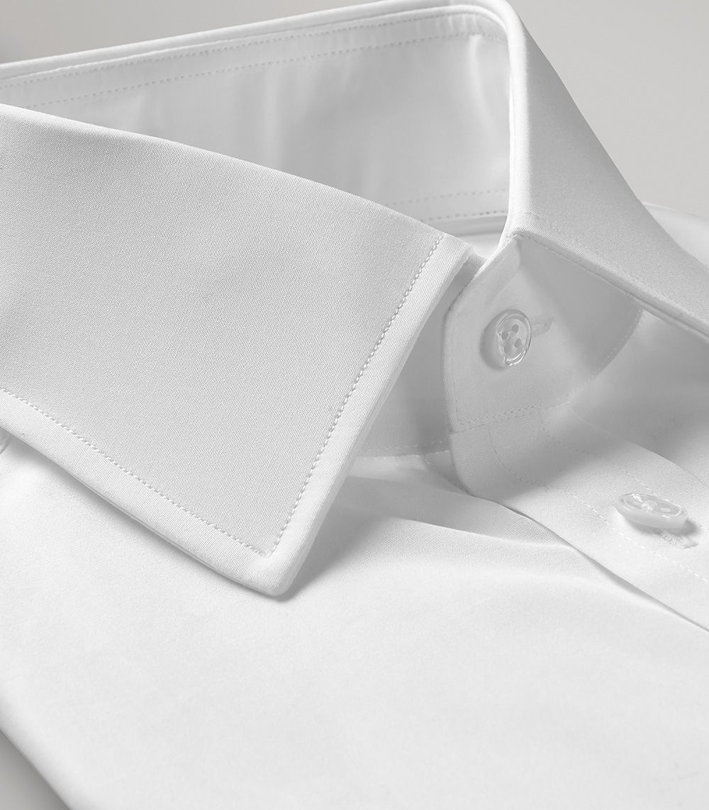 White Portland Slim Fit Double Cuff Shirt - Egyptian Cotton