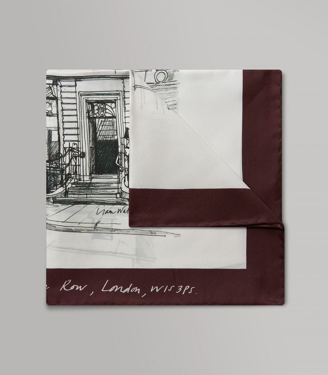 Huntsman Exclusive Print Silk Pocket Square