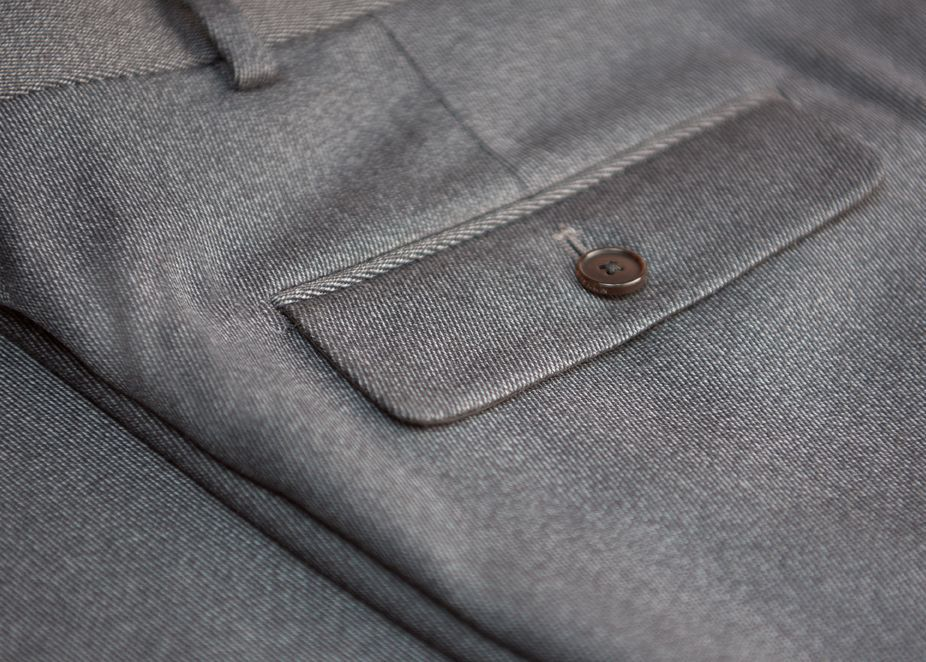 Natural Fabrics for all seasons - Close Up of Trouser Fabric