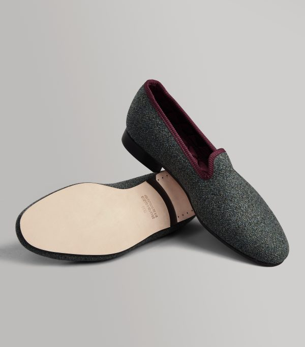 Huntsman Cawdor House Tweed Wool Slippers