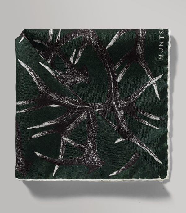 Huntsman Stag Printed Silk Twill Pocket Square