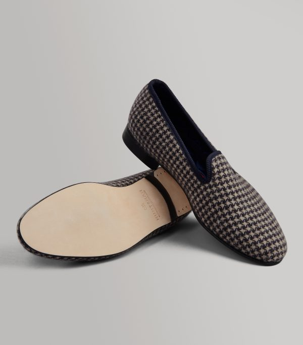 Exclusive Cashmere Tweed Design Slippers