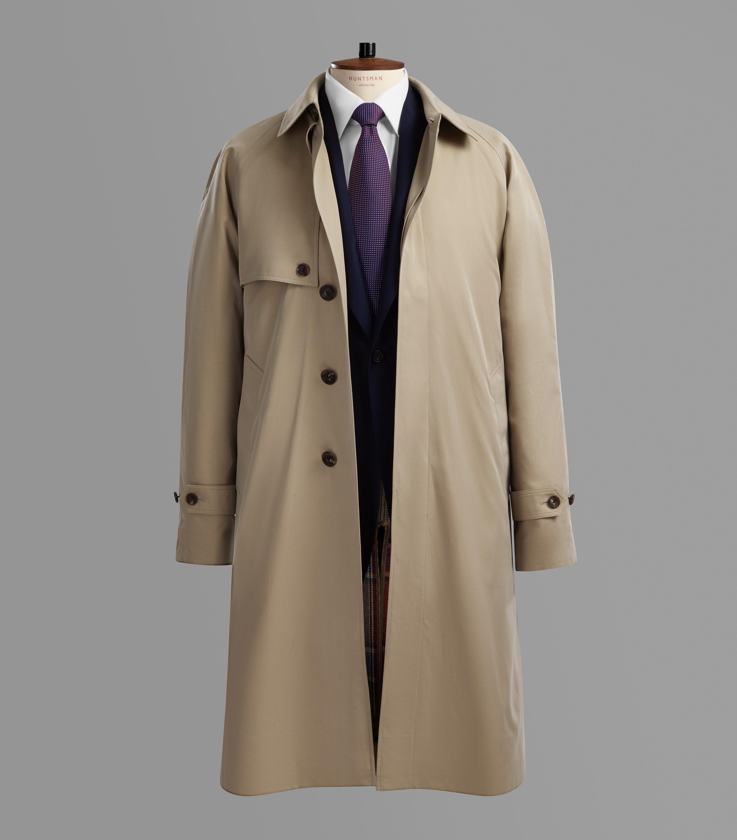 Huntsman Classic Camel Raincoat