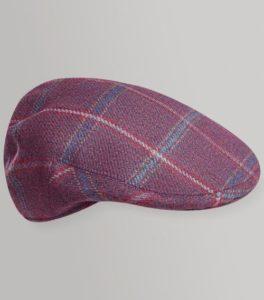 Huntsman Claret Tweed Classic Flat Cap