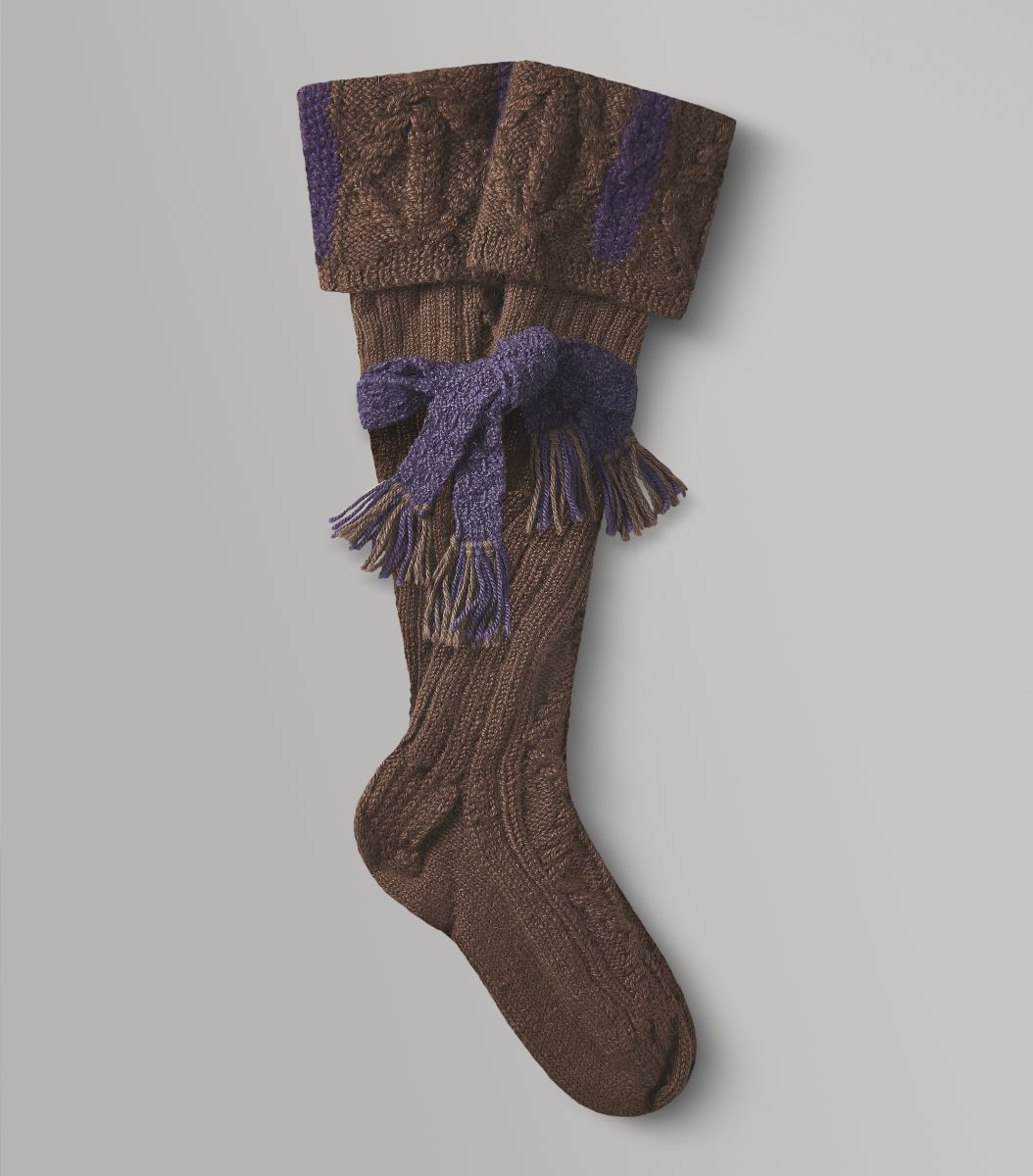 Brown Shooting Stocking- Knitted Socks