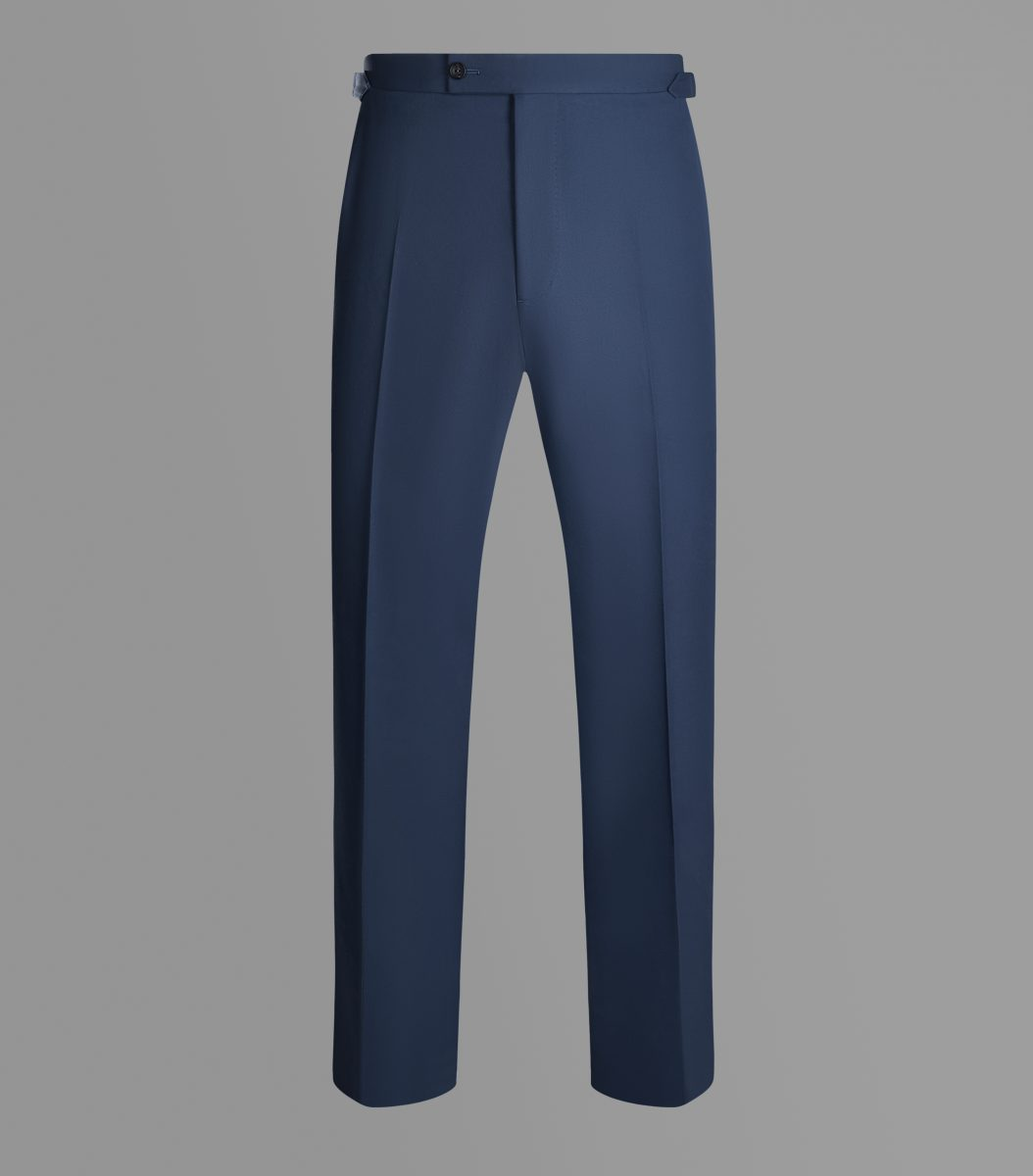Blue Cotton Cashmere Trousers