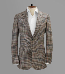 Tan Gun Check Sports Jacket Blazer
