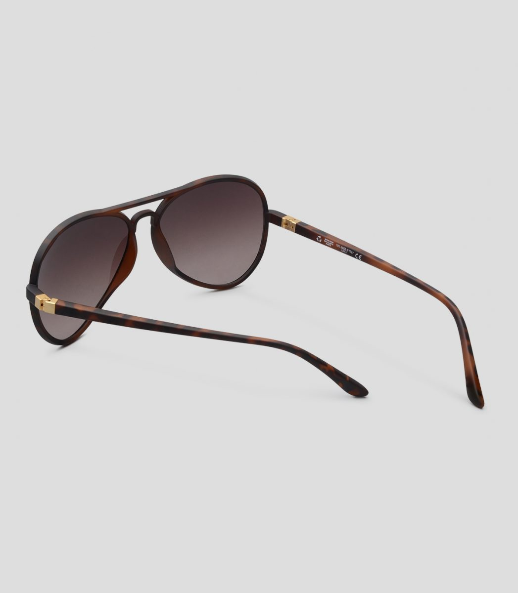 Fly 17 Havana Matt Brown frames, with fume lenses