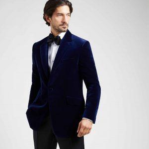 236f11c884 Royal Blue Velvet Evening Jacket